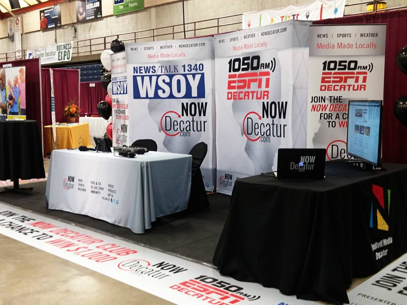 Tradeshow Display for NowDecatur WSOY - Decatur, IL
