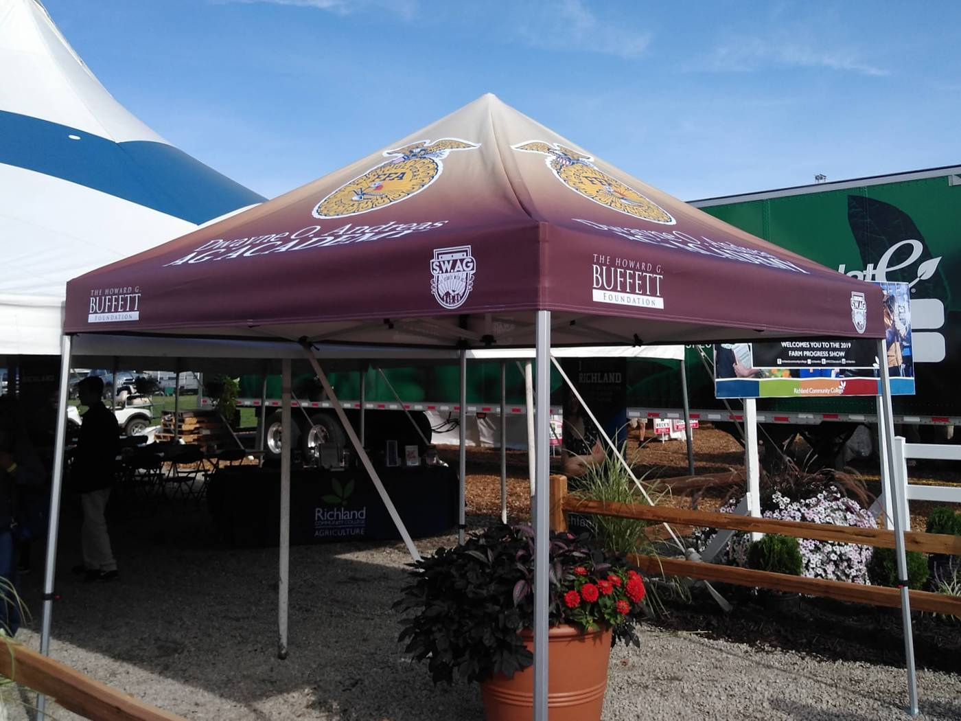 Tradeshow Tent for Howard G. Buffet Foundation - Decatur, IL