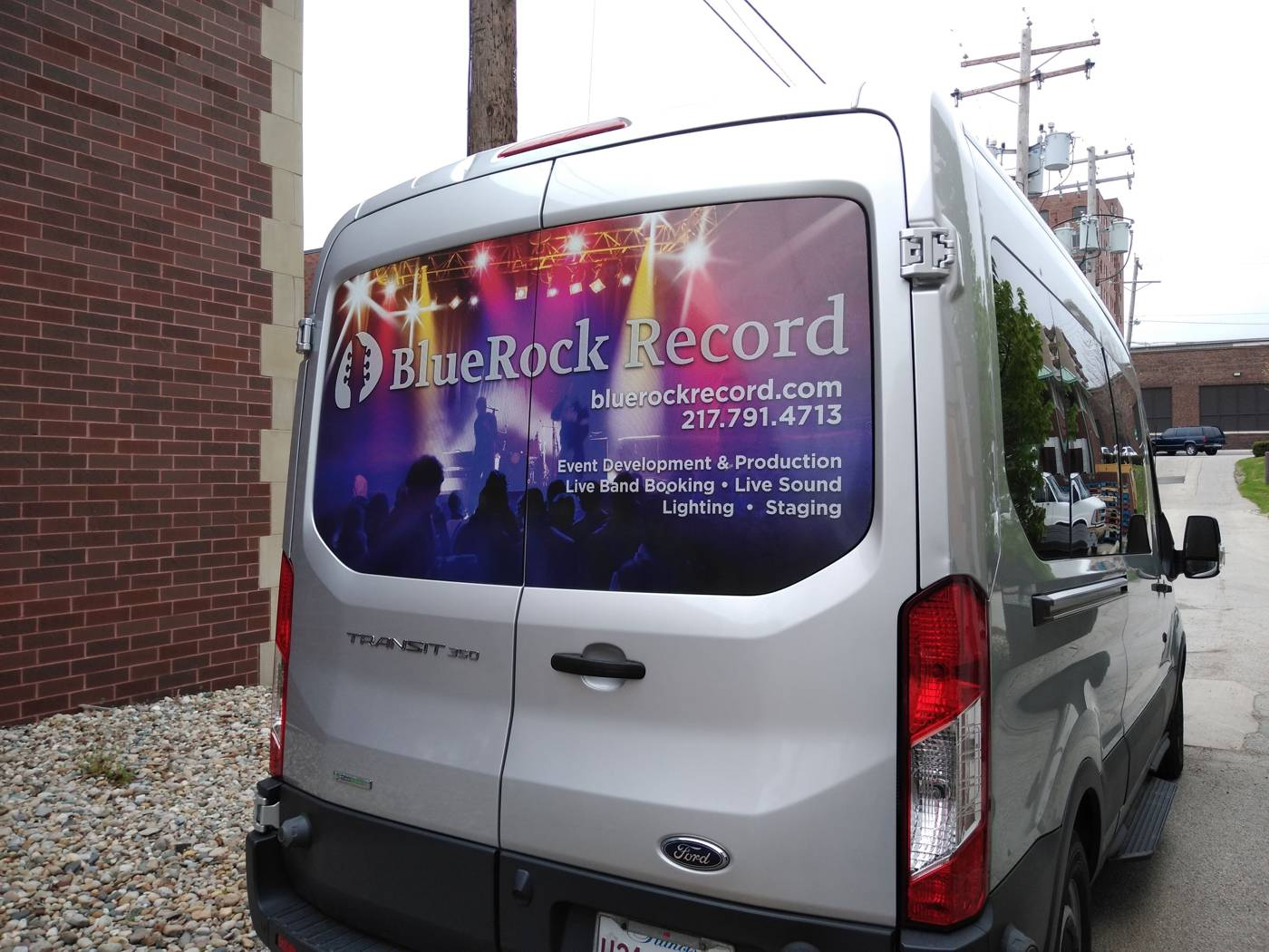 Vehicle Graphics for Blue Rock Record - Mt. Zion, IL