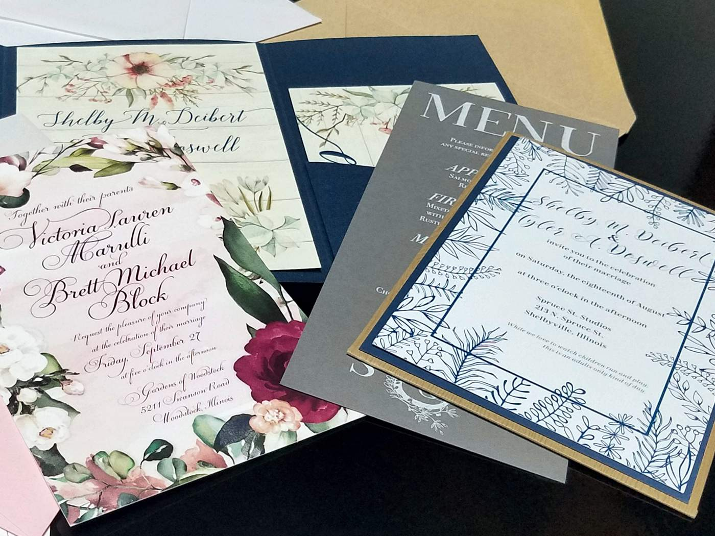 Wedding Invitations by DecaturBlue