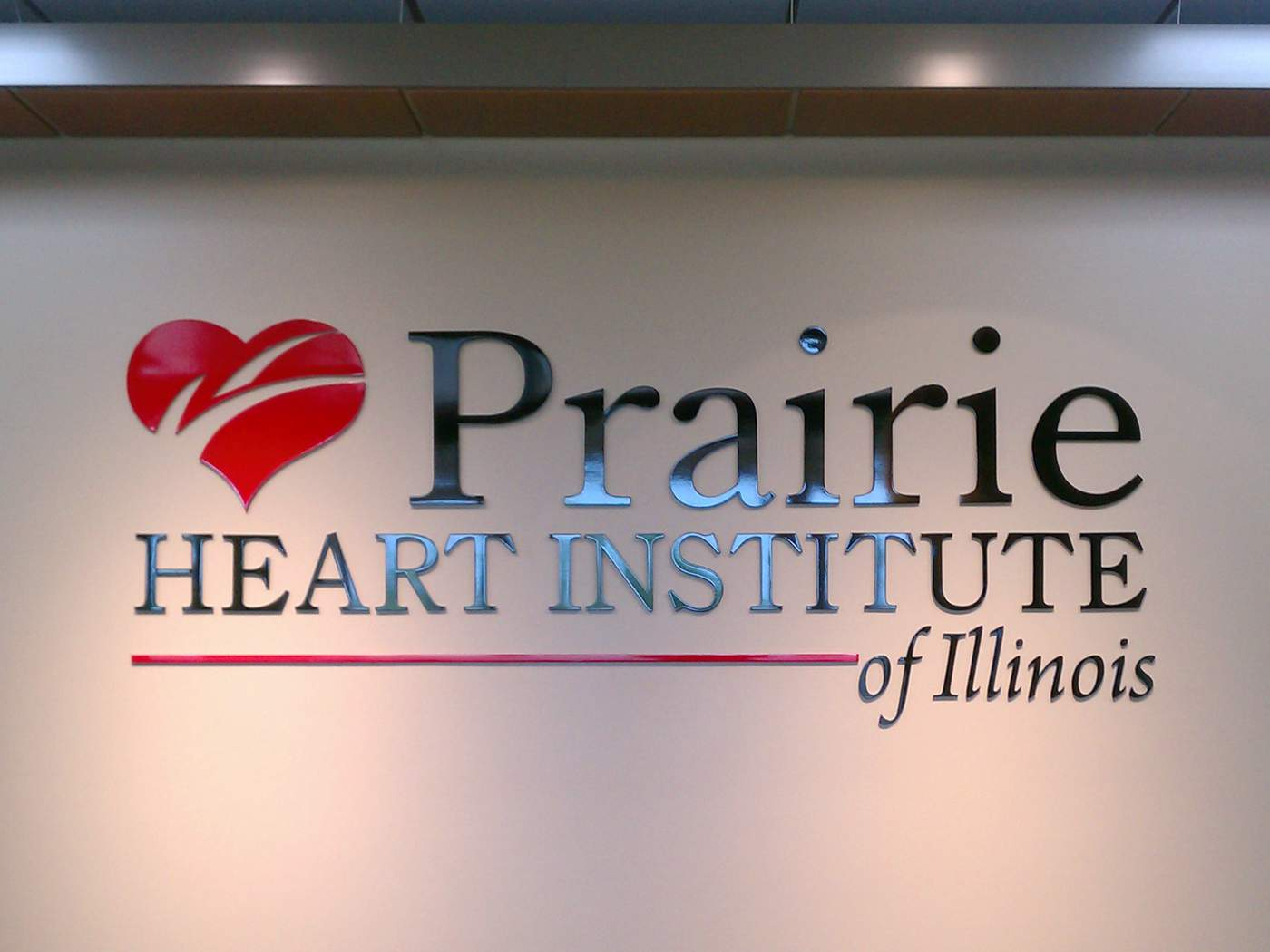 Custom Acrylic Signage for Prairie Heart Institute - Decatur, IL